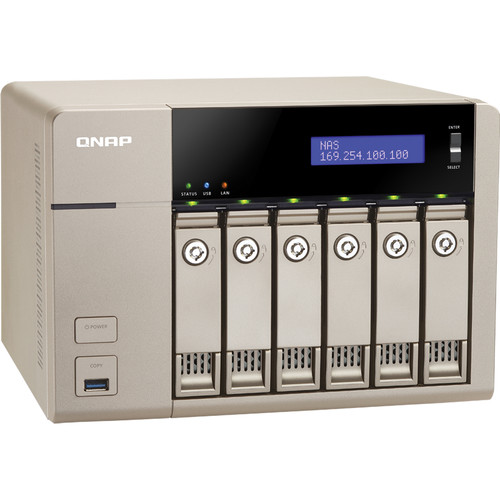 QNAP TVS-663-4G 36TB (6 x 6TB) 6-Bay Golden Cloud Turbo vNAS Kit