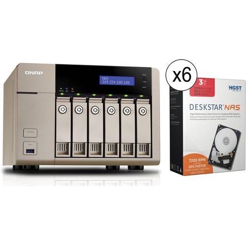 QNAP TVS-663-8G 18TB (6 x 3TB) 6-Bay Golden Cloud Turbo vNAS Kit