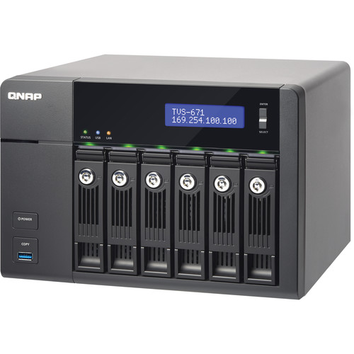 QNAP TVS-671-i3-4G 6-Bay High-Performance Turbo vNAS