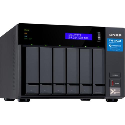 QNAP TVS-672XT Ultra-High Speed 6-Bay Thunderbolt 3 NAS (8GB)