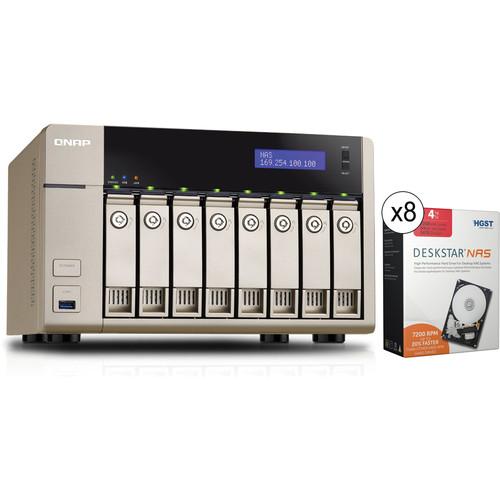 QNAP TVS-863+-16G 32TB (8 x 4TB) 8-Bay Golden Cloud Turbo vNAS Kit