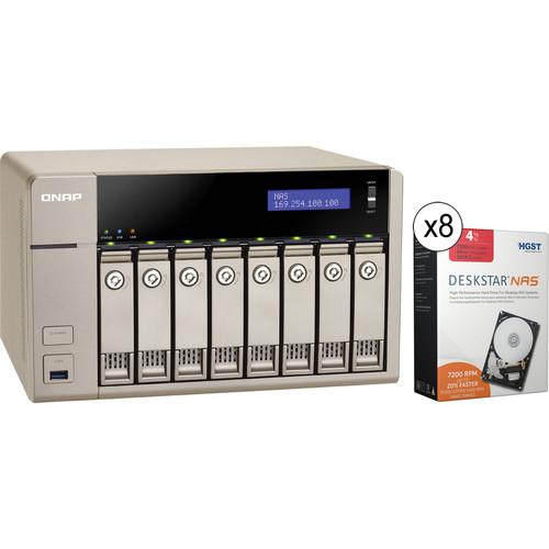 QNAP TVS-863-4G 32TB (8 x 4TB) 8-Bay Golden Cloud Turbo vNAS Kit