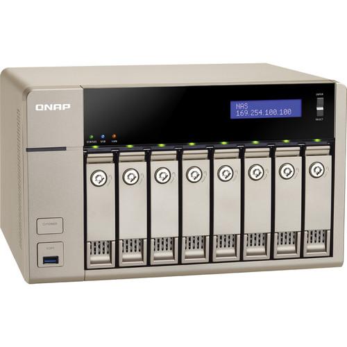 QNAP TVS-863+-8G 24TB (8 x 3TB) 8-Bay Golden Cloud Turbo vNAS Kit