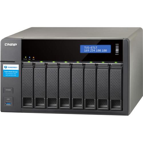 QNAP TVS-871T 48TB (8 x 6TB) 8-Bay Thunderbolt 2 Turbo vNAS