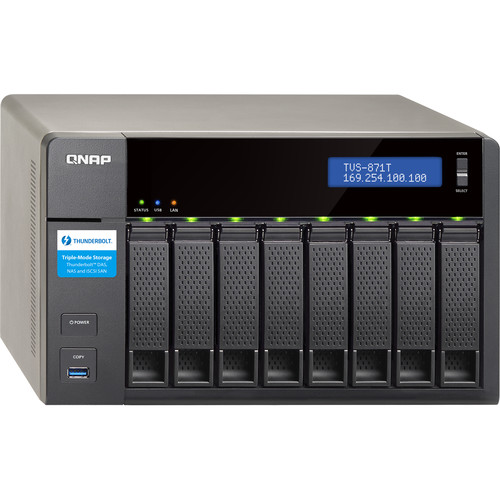 QNAP TVS-871T 8-Bay Thunderbolt 2 Turbo vNAS