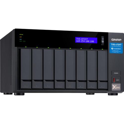 QNAP TVS-872XT Ultra-High Speed 8-Bay Thunderbolt 3 NAS (16GB)
