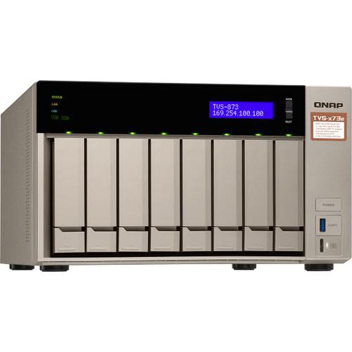 QNAP 8-Bay Nas/ISCSI IP-San Amd R Series Quad-Core 2.1Ghz 4Gb Ram 10G-Ready