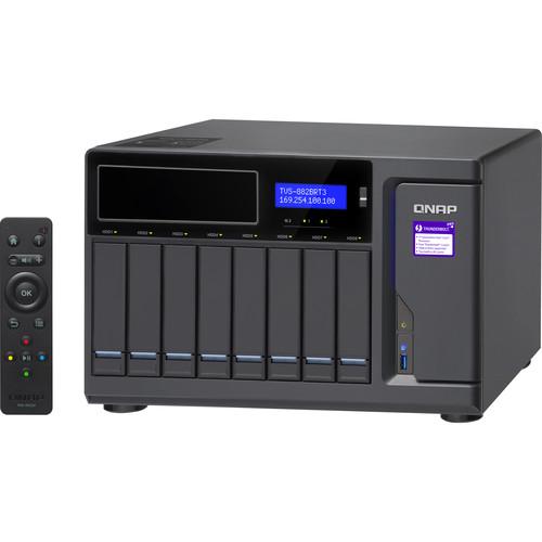 QNAP TVS-882 NAS Enclosure 8-Bay/ i7/ 32GB/ Blue Ray/ Thunderbolt 3