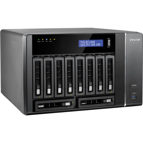 QNAP TVS-EC1080 10-Bay Edge Cloud Turbo vNAS Enclosure