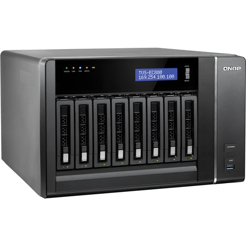 QNAP TVS-EC880-E3-8G 8-Bay 10 GbE-Ready Edge Cloud Turbo vNAS