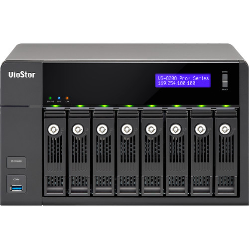 QNAP VioStor VS-8224-PRO+ 24-Channel 8-Bay Network Video Recorder