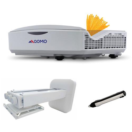 QOMO QP8000T 3700-Lumen WXGA DLP Interactive Laser Projector with Mount and Interactive Pen Bundle