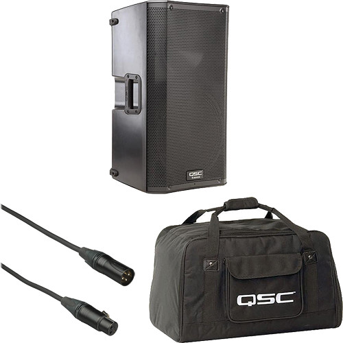 """QSC QSC K12 12"""" 1000W Powered Speaker with Soft Carry Bag and Cable Kit"""