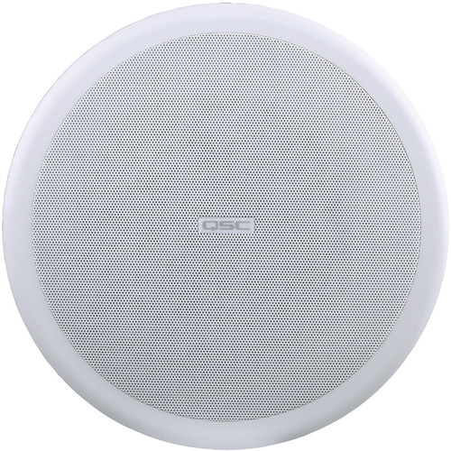 "QSC AC-C8T AcousticCoverage Series 8"" 2-Way 80W Ceiling Loudspeaker (Pair, White)"