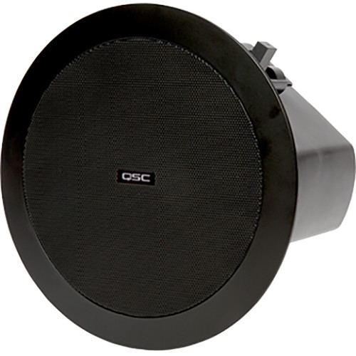 "QSC AcousticDesign 4.5"" 2-Way Ceiling Loudspeaker (Pair, Black)"