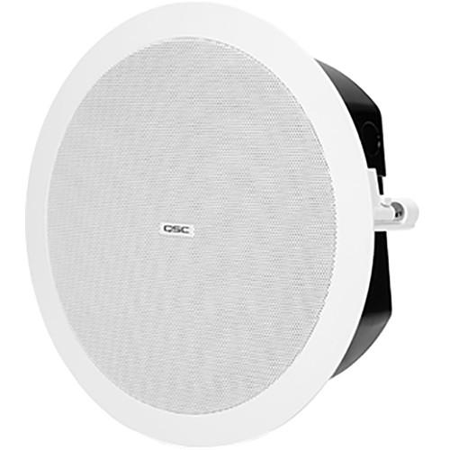 "QSC AcousticDesign 4.5"" 2-Way, Low-Profile Ceiling Loudspeaker (Pair, White)"