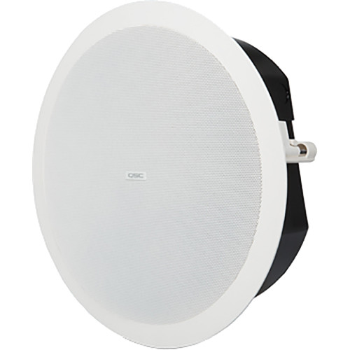 "QSC AcousticDesign 6.5"" 2-Way, Low-Profile Ceiling Loudspeaker (Pair, White)"