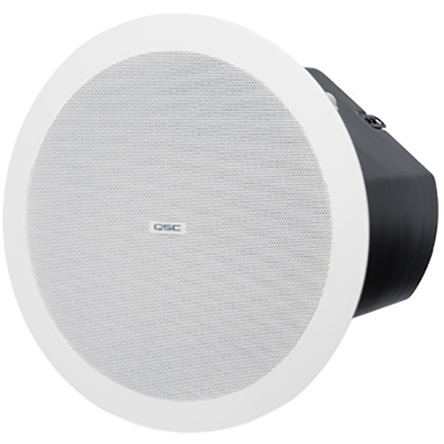 """QSC AcousticDesign 6.5"""" Two-Way Ceiling Loudspeaker (Pair, White)"""