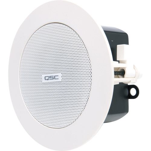 "QSC AD-C.SAT 2.75"" Small-Format Passive Ceiling Satellite Loudspeakers (White, Pair)"