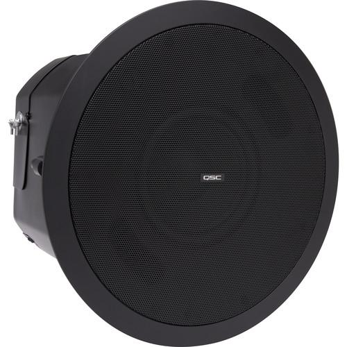 "QSC 6.5""Dual VoiceCoil Ceiling WeatherTreated Subwoofer-70/100V Transformer-C-Ring/Tile Rails(Black)"