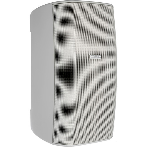 "QSC AD-S82 8"" AcousticDesign Surface Mount Weather-Resistant Loudspeaker System with IntelliDock Mounting System & Transformer (White)"