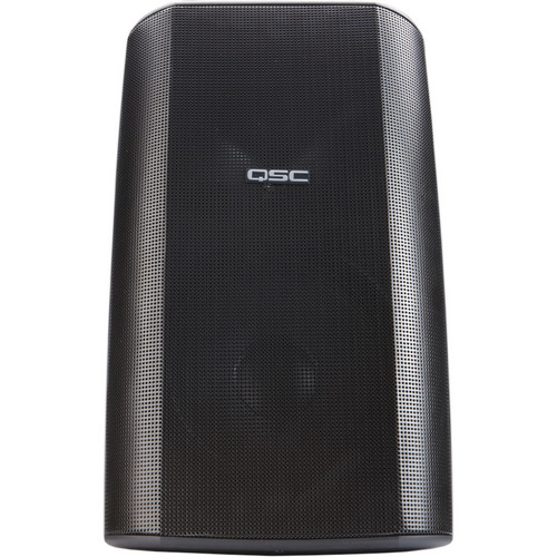 "QSC AD-S82 8"" AcousticDesign Surface Mount Weather-Resistant Loudspeaker System with Yoke Mount (Black)"