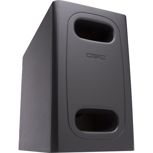"""QSC 6.5""""DualVoiceCoil Surface Subwoofer/HiPass Out-70/100V-Bypass/Lo-Z Mono/Stereo/Surface Instal(Black)"""