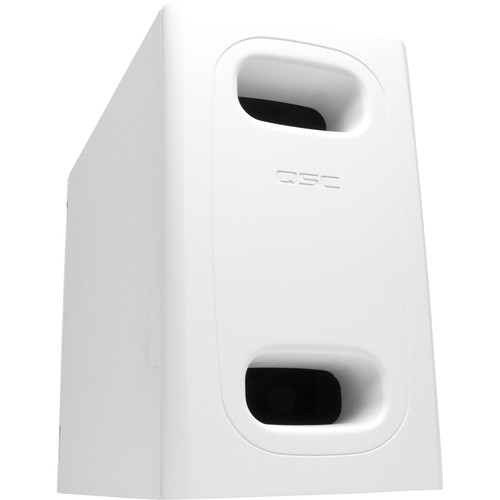 """QSC 6.5""""DualVoiceCoil Surface Subwoofer/HiPass Out-70/100V-Bypass/Lo-Z Mono/Stereo/Surface Instal(White)"""