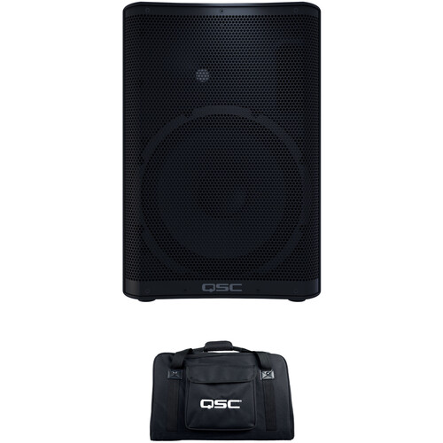 QSC CP12 Compact Powered Loudspeaker with Bag Kit