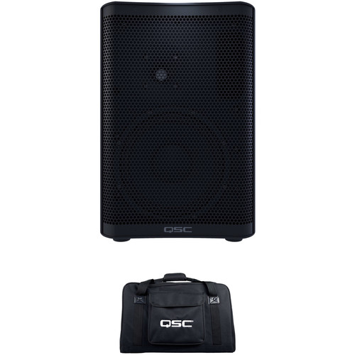 QSC CP8 Compact Powered Loudspeaker with Bag Kit