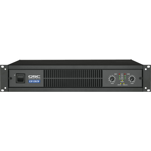 QSC CX-1202V 2 Channel Direct Output Power Amplifier (1200W, 70V)