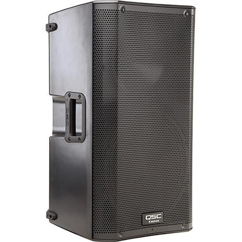 QSC Dual K12 Powered Speaker Kit with Flight Case, Speaker Stands, Cables, and Gig Bag