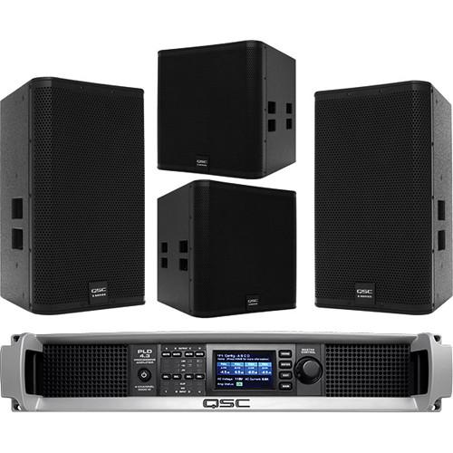 QSC Stereo Loudspeaker & Subwoofer System