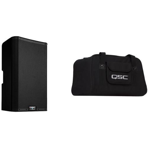 """QSC K10.2 K.2 Series 10"""" 2000W Powered Speaker with Speaker Bag Kit"""
