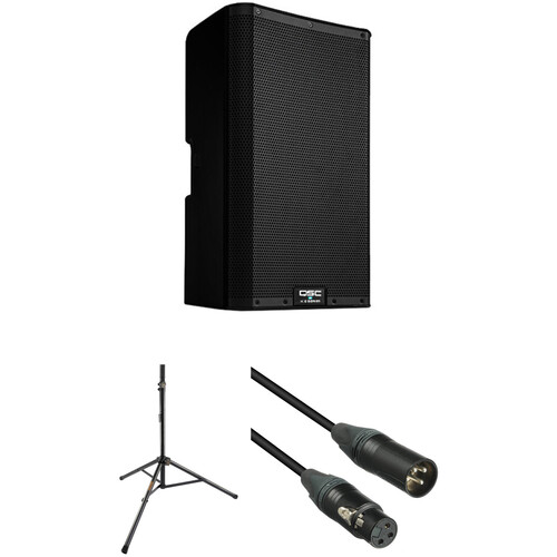 """QSC K10.2 K.2 Series 10"""" 2000W Powered Speaker with Stand and Cable Kit"""
