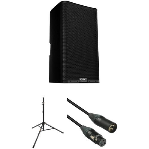 """QSC K12.2 K.2 Series 12"""" 2000W Powered Speaker Kit with Stand and Cable"""