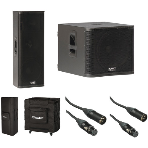 QSC KW153 and KW181 Kit with Covers and Cables