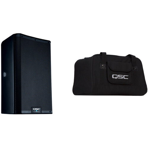 """QSC K8.2 K.2 Series 8"""" 2000W Powered Speaker with Speaker Bag Kit"""