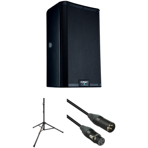 """QSC K8.2 K.2 Series 8"""" 2000W Powered Speaker with Stand and Cable Kit"""