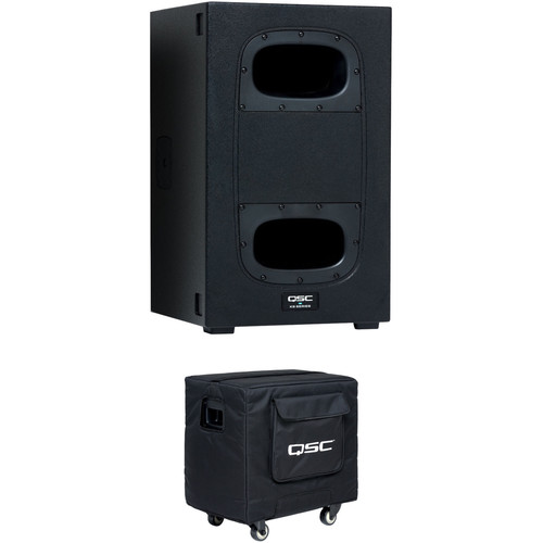 """QSC KS112 12"""" Powered Subwoofer Kit with Padded Cover"""