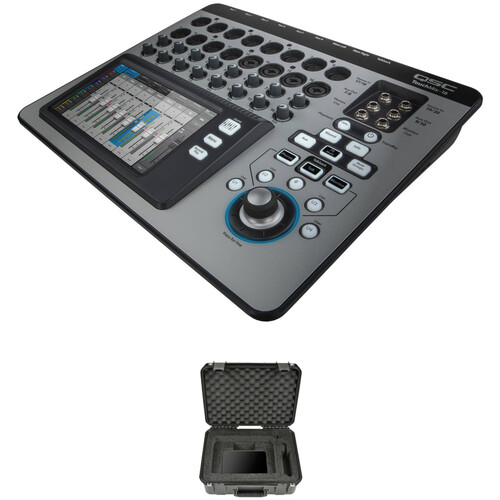 QSC TouchMix-16 Compact Digital Mixer with Watertight Road Case Kit