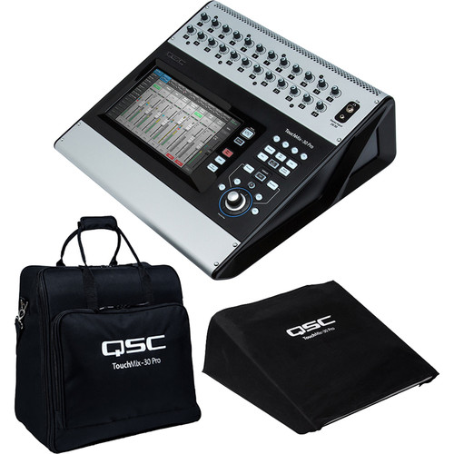 QSC TouchMix-30 Pro 32-Channel Digital Mixer Kit with Carrying Tote and Dust Cover