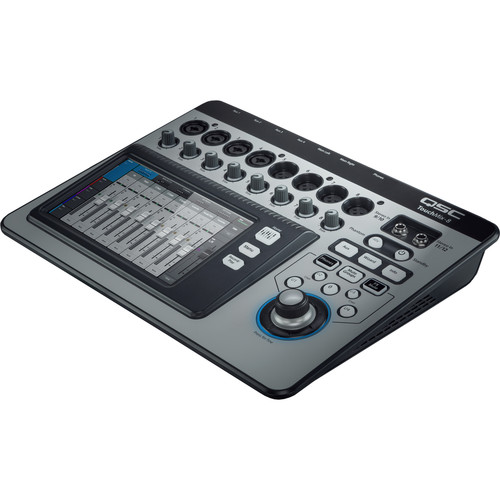 QSC TouchMix-8 Compact Digital Mixer Kit with 4x Microphones and 4x Mic Stands