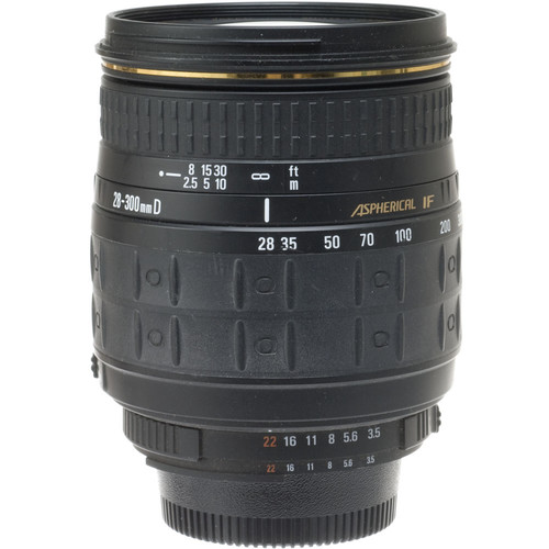 Quantaray Wide Angle-Telephoto 28-300mm f/3.5-6.3 Aspherical IF Auto Focus Lens for Nikon AF-D