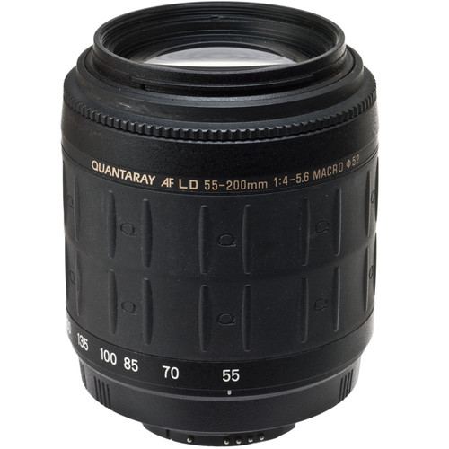 Quantaray Zoom Normal-Telephoto 55-200mm f/4-5.6 LD Autofocus Lens for Nikon Digital AF