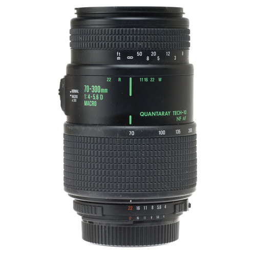 Quantaray Zoom Telephoto 70-300mm f/4.0-5.6 Tech 10 Macro Auto Focus Lens for Nikon AF-D