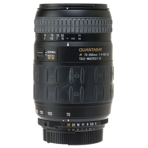 Quantaray Zoom Telephoto 70-300mm f/4.0-5.6 LD Autofocus Macri Lens for Nikon AF-D