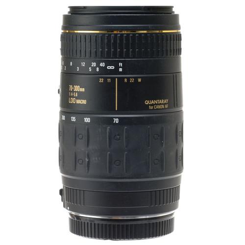 Quantaray Zoom Telephoto AF 70-300mm f/4.0-5.6 LDO Auto Focus Lens for Canon