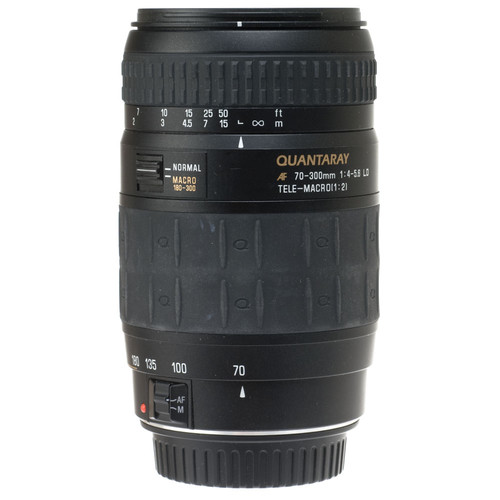 Quantaray Zoom Telephoto AF 70-300mm f/4.0-5.6 LD Macro Auto Focus Lens for Canon