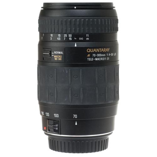 Quantaray Zoom Telephoto AF 70-300mm f/4.0-5.6 LD Macro Auto Focus Lens for Canon